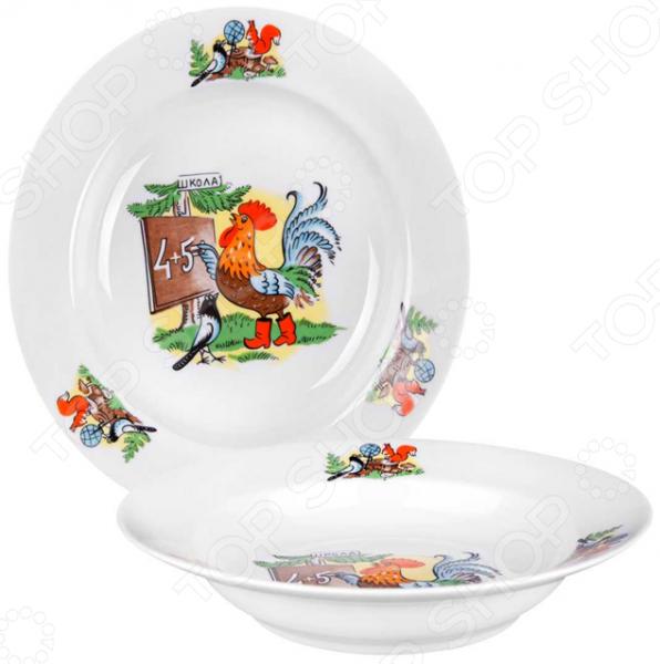 Тарелка суповая детская Дулевский Фарфор «Школа»