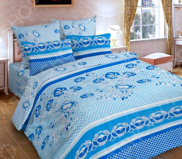 Комплект постельного белья DIANA P&W «Гжель». 1,5-спальный