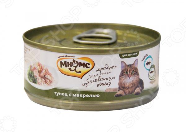 Корм консервированный для кошек Мнямс «Тунец с макрелью в нежном желе»