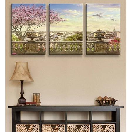 Купить Картина 3- модульная ТамиТекс «Панорама Парижа»