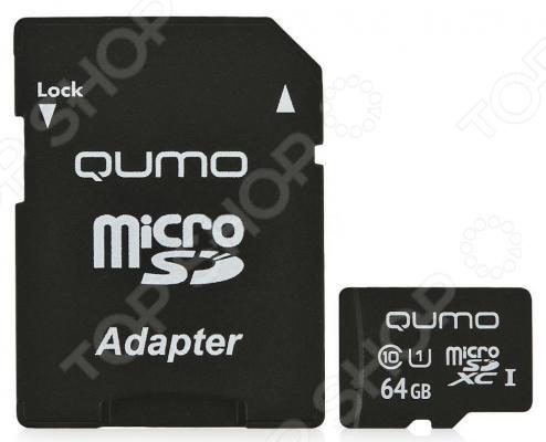Карта памяти Qumo QM64GMICSDXC10U1