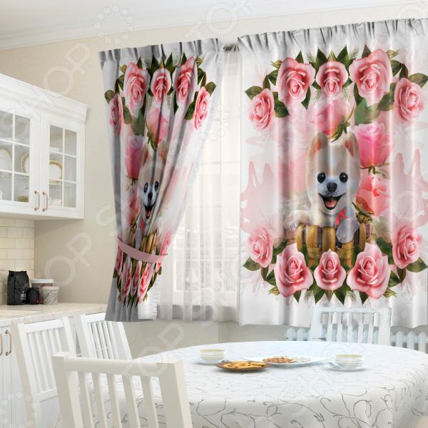 Комплект штор ТамиТекс «Щенок в розочках» комплект штор тамитекс щенок в розочках
