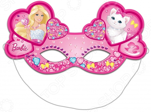 Набор детских масок Росмэн Барби станет великолепным украшением для любого праздника или утренника. Изящная маска, выполненная из плотного картона и дополненная красочными аппликациями, обязательно порадует маленькую модницу и подарит ей море положительных эмоций. Маска закрепляется при помощи надежной резинки. В комплекте шесть масок.
