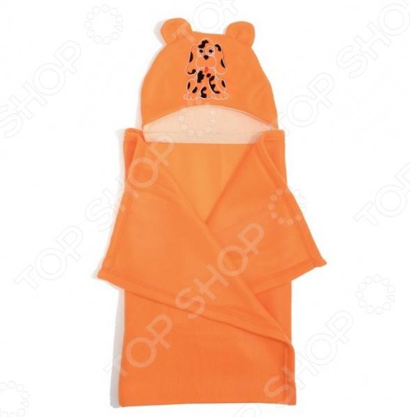 Покрывало детское с капюшоном Guten Morgen «Собачка» покрывало guten morgen милка