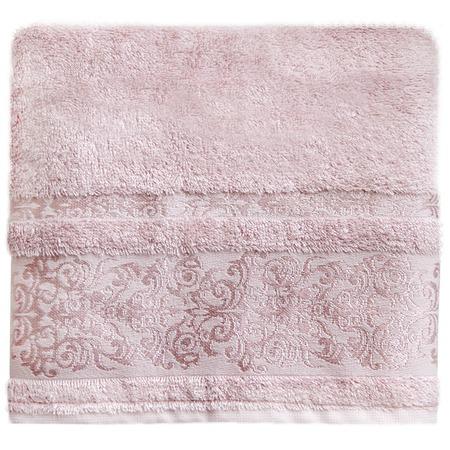 Купить Полотенце банное BONITA «Дамаск». Цвет: пудровый
