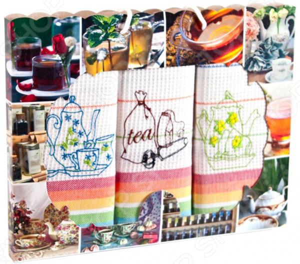 Комплект из 3-х кухонных полотенец Dinosti «Чайная фантазия»