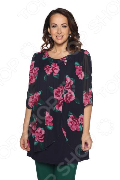 Туника Laura Amatti «Шарлота». Цвет: малиновый платье laura amatti нежная радость цвет сиреневый