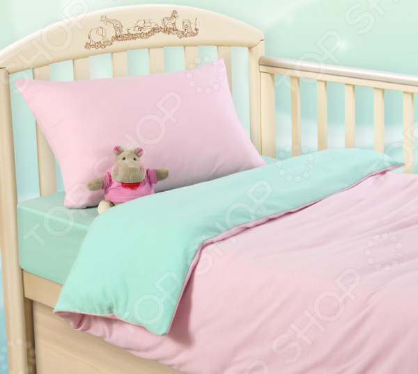 цена Ясельный комплект постельного белья ТексДизайн «Розовая свежесть» онлайн в 2017 году