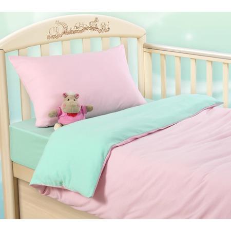 Купить Ясельный комплект постельного белья ТексДизайн «Розовая свежесть»