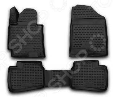 Комплект 3D ковриков в салон автомобиля Novline-Autofamily Hyundai Elantra 3D 2014 Standart комплект 3d ковриков в салон автомобиля novline autofamily ford mondeo 2015