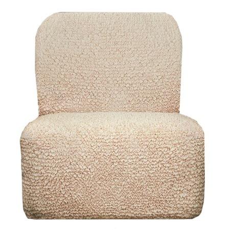 Купить Натяжной чехол на кресло без подлокотников Еврочехол «Микрофибра. Ваниль»