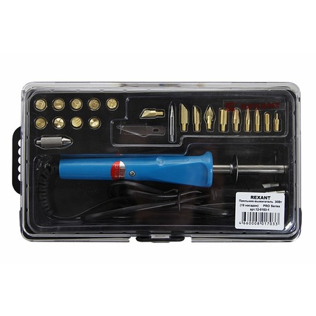 Купить Паяльник-выжигатель с насадками Rexant 12-0183-1