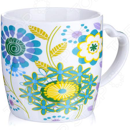 Кружка Loraine LR-21549-3 «Цветы» кружка loraine цветы lr 24474 зеленый 320 мл