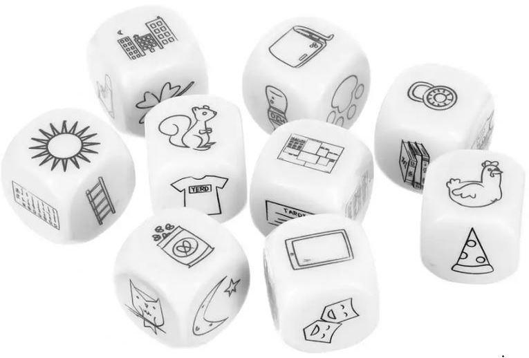 Игра настольная Bradex «Кубики историй»
