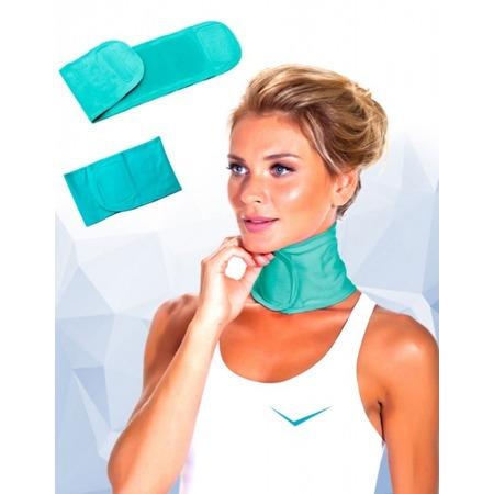 Купить Воротник с силиконовой подкладкой увлажняющий «Naomi». Цвет: бирюзовый