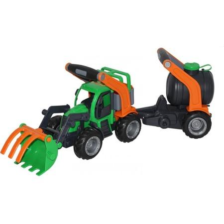 Купить Машинка игрушечная Wader «ГрипТрак. Трактор-погрузчик с цистерной»