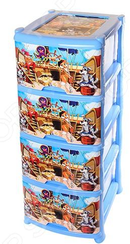 Комод детский 4-х секционный Violet 0352 «Пираты»