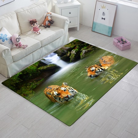 Купить Ковер ТамиТекс «Тигры в воде»