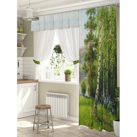 Купить Комплект штор для окна с балконом ТамиТекс «Березки»