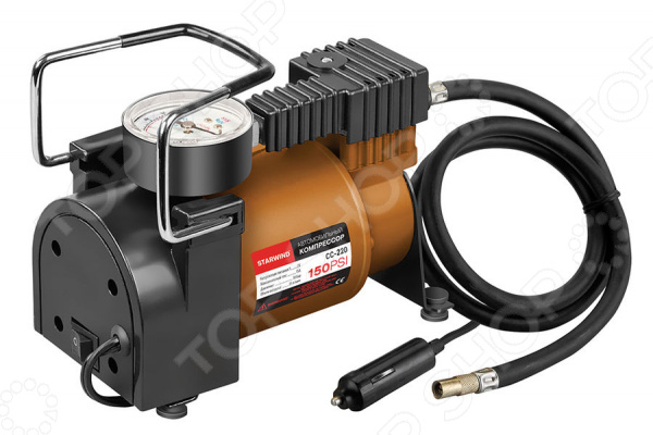 Компрессор автомобильный StarWind CC-220 компрессор для шин 3 12v 250 psi