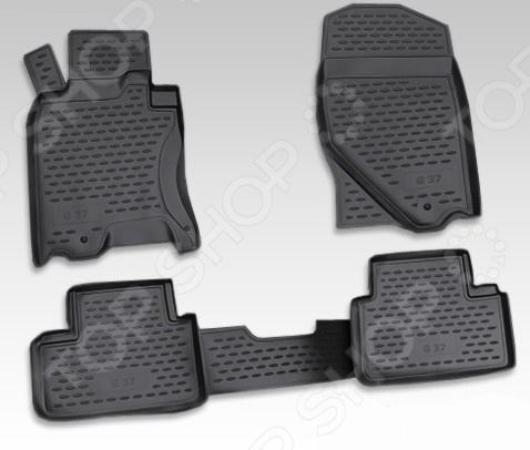 Комплект ковриков в салон автомобиля Novline-Autofamily Infiniti G 37X 2009-2013