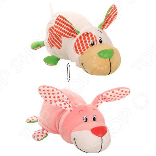 Мягкая игрушка ароматизированная 1 Toy «Вывернушка Ням-Ням 2в1: Щенок-Зайчонок» 1toy вывернушка ням ням 2 в 1 морской котик с ароматом клубники пингвинчик с ароматом апельсиновой газировки 40 см т13922