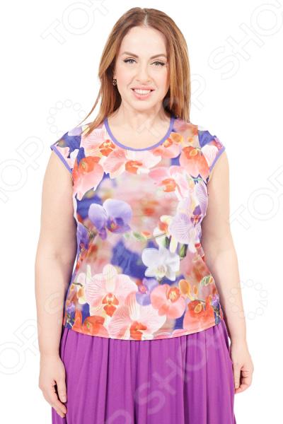 Блуза Лауме-Лайн «Иллюзия». Цвет: сиреневый блуза dept цвет сиреневый