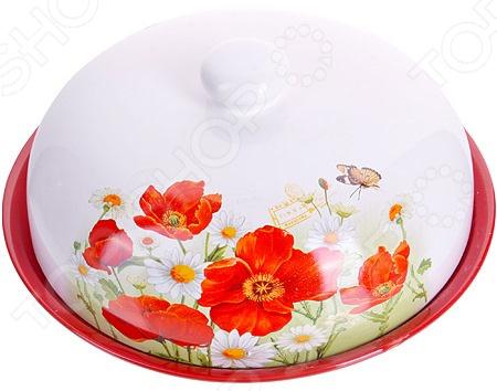 Блюдо для блинов Loraine LR-28141 «Маки» блюдо для блинов loraine розы 23 8 см с узором