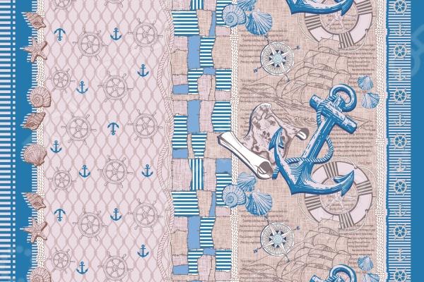 Полотенце банное вафельное ТексДизайн «Семь морей»