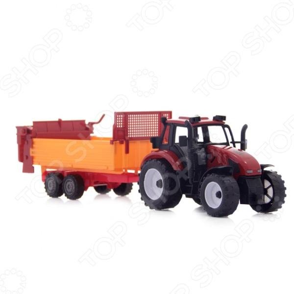 Машинка инерционная Shantou Gepai «Трактор с прицепом» 7988-2 конструкторы shantou gepai собери машинку 51 элемент