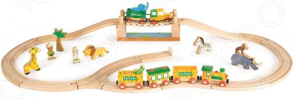 Набор железной дороги игрушечный Janod «Сафари»