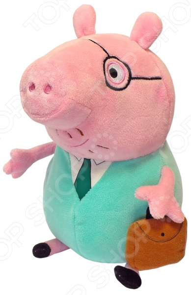 Мягкая игрушка Peppa Pig «Папа свин с кейсом» ролевые игры картонный папа игрушка из картона картонная кухня