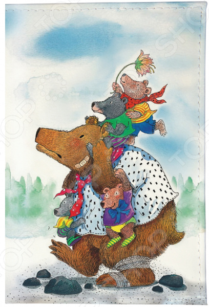 Визитница Mitya Veselkov «Медведица с медвежатами» цена