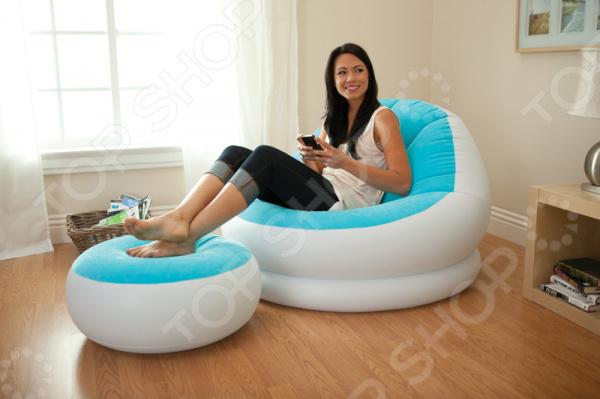Набор надувной мебели: кресло и пуфик Intex с68572