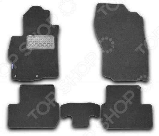 Комплект ковриков в салон автомобиля Novline-Autofamily Mitsubishi Lancer X 2007 . Цвет: черный дефлекторы окон novline autofamily mitsubishi lancer 2000 2010 седан
