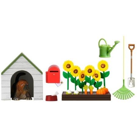 Купить Комплект аксессуаров для кукольного домика Lundby «Садовый набор с питомцем»