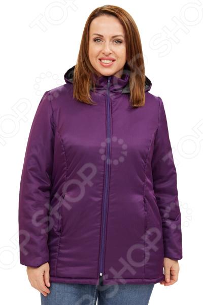 Куртка СВМ-ПРИНТ «Снежная леди». Цвет: фиолетовый