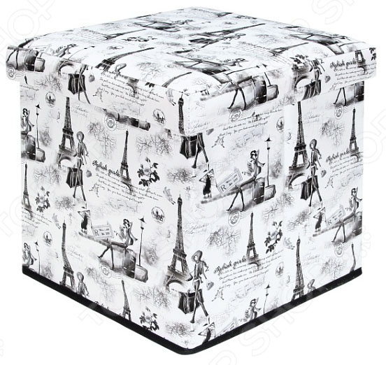 Пуф складной с ящиком для хранения EL Casa «Модный Париж» EL Casa - артикул: 1304628