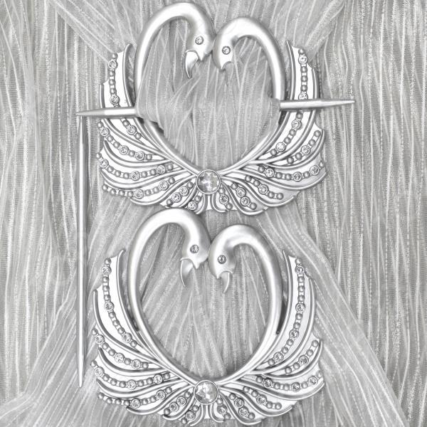 Кольцо-подхват для штор Ajur «Лебеди»