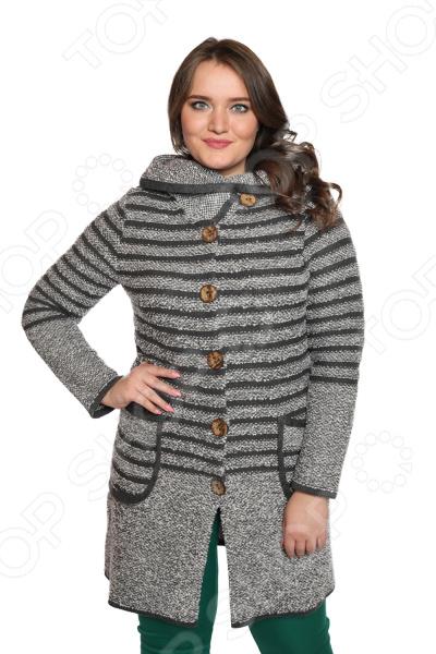 Жакет Milana Style «Горизонты». Цвет: серый жакет milana style цвет молочный