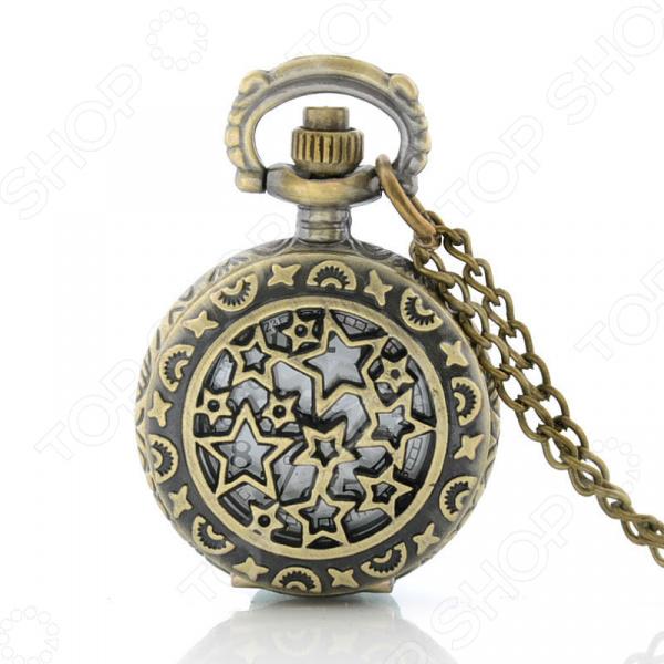Кулон-часы Mitya Veselkov «Медальон с звездами»