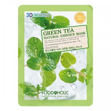 Купить Маска тканевая для лица FoodaHolic 3D с натуральным экстрактом зеленого чая