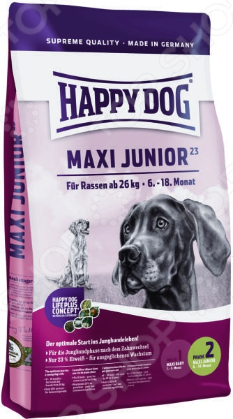 ���� ����� ��� ������ ������� ����� Happy Dog Supreme Maxi Junior GR 23
