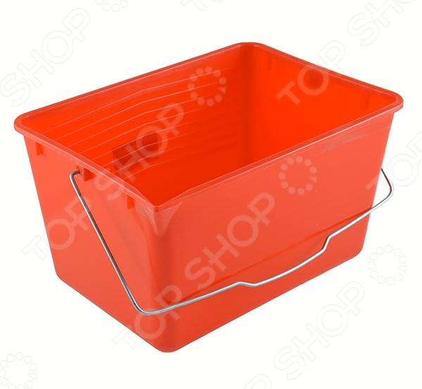 Ведро для краски FIT 04022 квадратной формы. Объем ведра составляет 12 литров. Предусмотрена ручка для удобства транспортировки. Изготовлено из пластика.