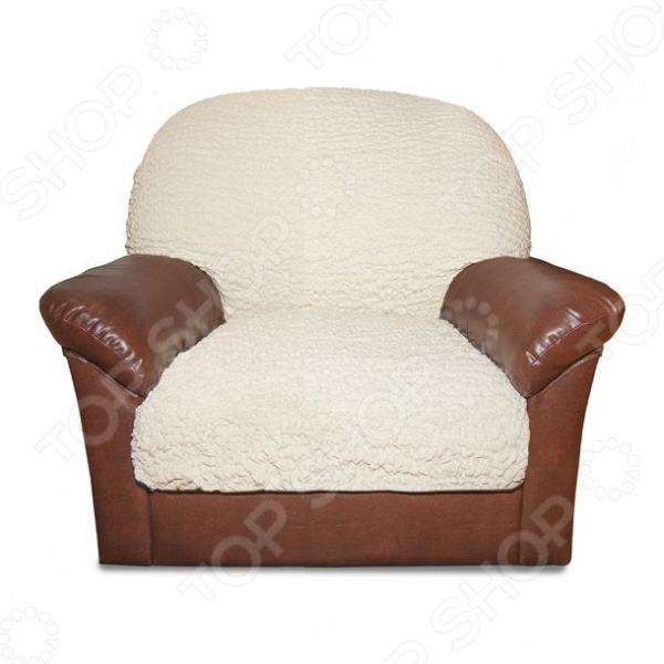Zakazat.ru: Натяжной чехол на подушку для кресла Еврочехол «Модерн. Шампань»