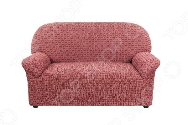 натяжной чехол на угловой диван с выступом слева еврочехол сиена сатурно Натяжной чехол на двухместный диван Еврочехол «Сиена Сатурно»