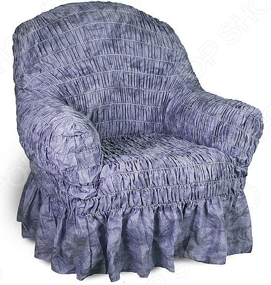 Zakazat.ru: Натяжной чехол на кресло Еврочехол «Фантазия. Синий»
