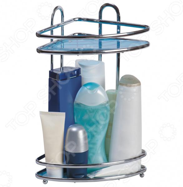 Полка для ванной угловая Tatkraft Kaiser Mini 2-х ярусная полка tatkraft mega lock одноярусная настенная с 2 вакуумными шурупами