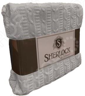 Плед вязаный Unison Sherlock. Цвет: светло-серый unison