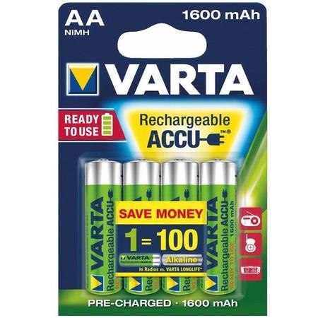 Батарея аккумуляторная VARTA AA R2U 1600 мАч 4 шт.